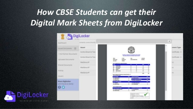 Get Cbse result 10th 12th Digital Marksheet From Digilocker