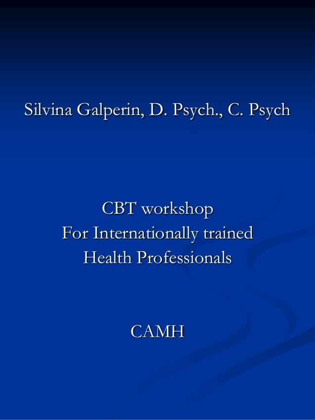 Cbt workshop for internationally trained health professionals