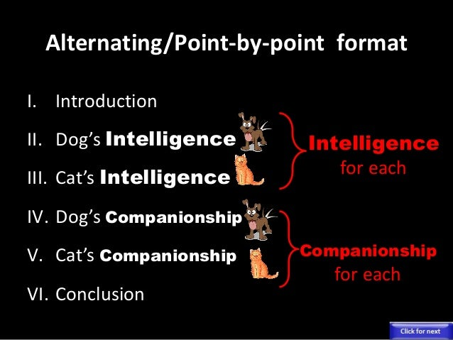 comparison essay cats and dogs