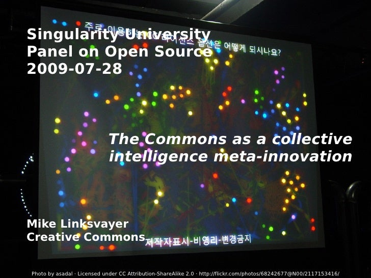Singularity University Open Source Panel