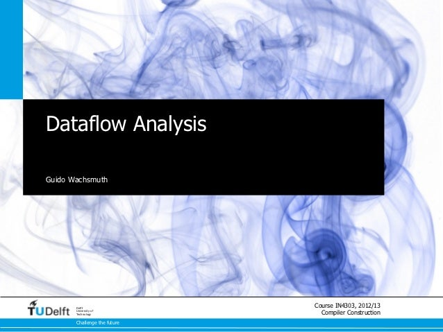 Compiling Imperative and Object-Oriented Languages - Dataflow Analysis