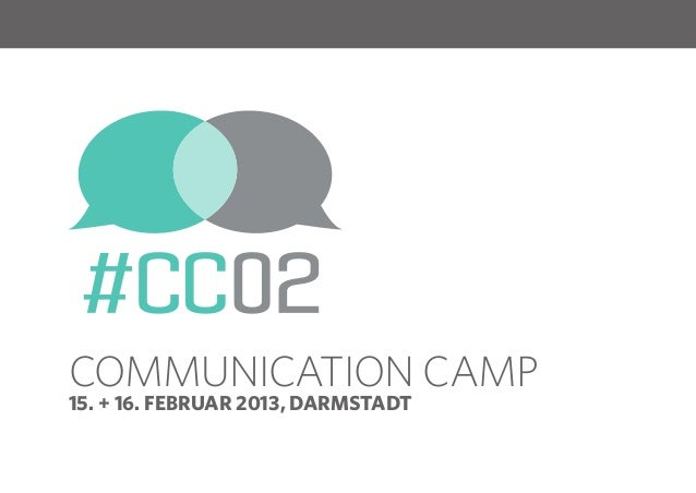 Das Communication Camp auf dem Webmontag in FFM