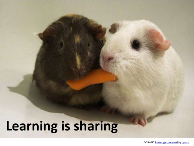 Learning is sharing CC BY-NC Some rights reserved by ryancr