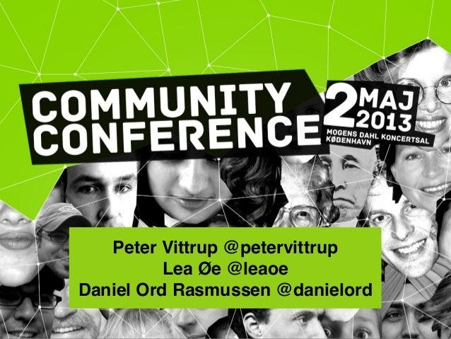Community conference 2013 - Community Management