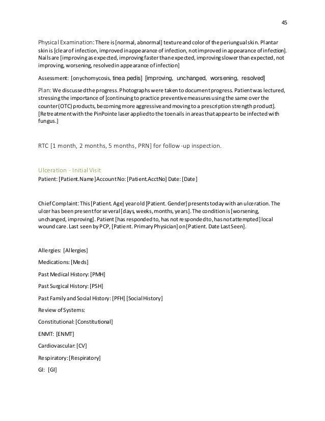 Podiatry writing of essay