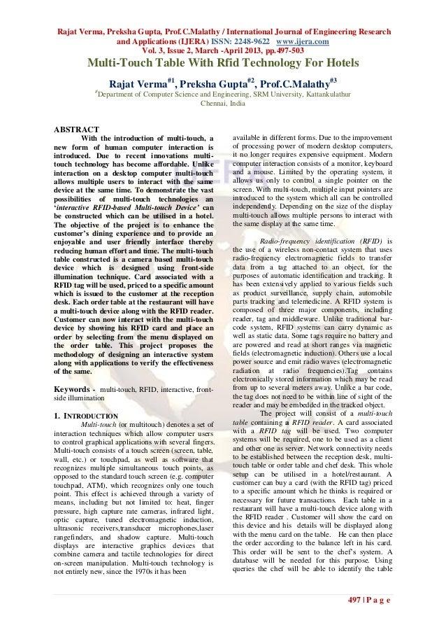 Rajat Verma, Preksha Gupta, Prof.C.Malathy / International Journal of Engineering Research                and Applications...