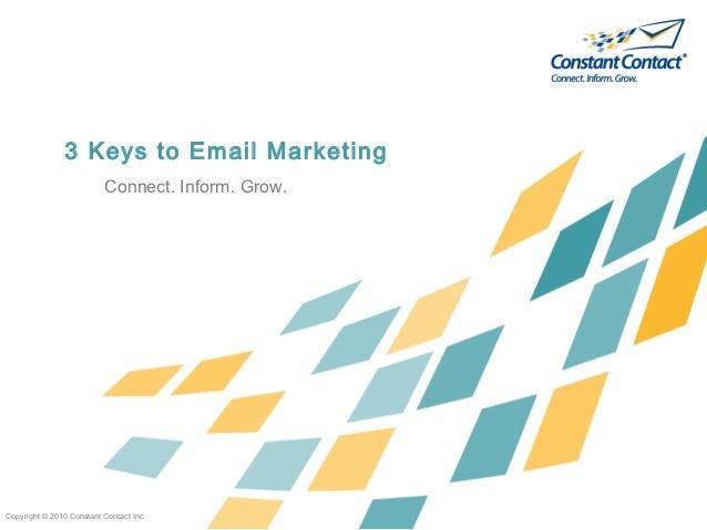 3 Keys to Email Mktg.