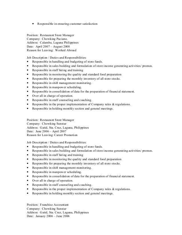 Reason For Leaving Resume Examples] Resume Reasons For Leaving ...