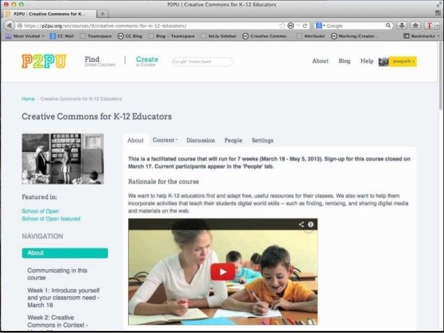 Creative Commons for K-12 Educators - Week 1 meetup