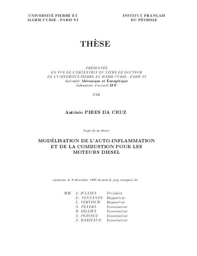 UNIVERSITE PIERRE ET INSTITUT FRANCAIS MARIE CURIE - PARIS VI DU PETROLE THESE PRESENTEE EN VUE DE L'OBTENTION DU TITRE DE...