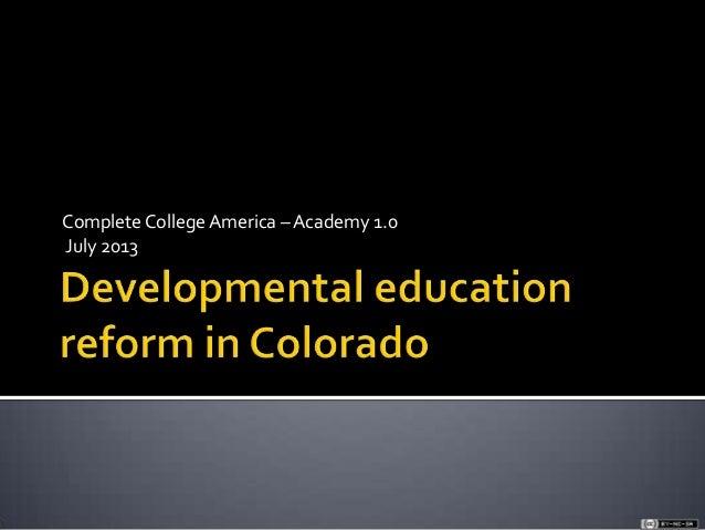Cca academy 1.0 july 2013