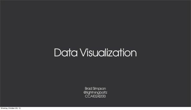 CCA Intro to Data Visualization 10/24/13