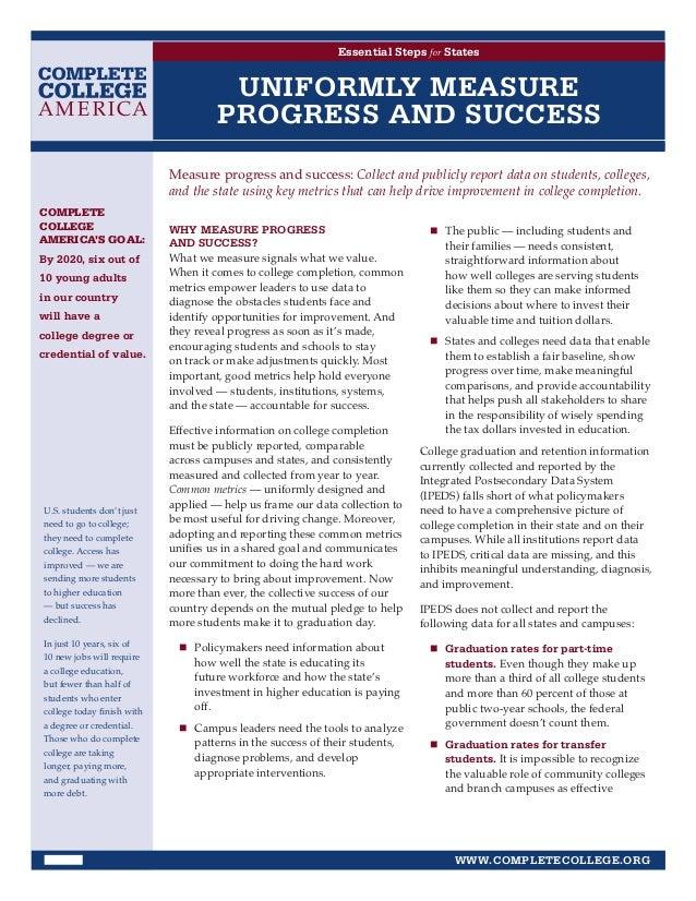 Essential Steps for States                                      UNIFORMLY MEASURE                                     PROG...