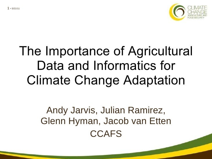 The importance of agricultural data and informatics for adaptation to climate change