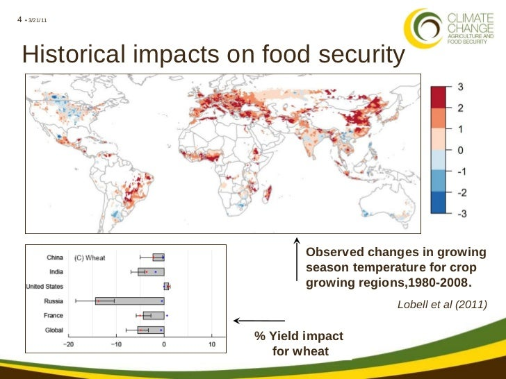 impact of climate change on food Overview of the potential impact of climate change on food and water in china and the consequences of that impact in terms of population health climate.
