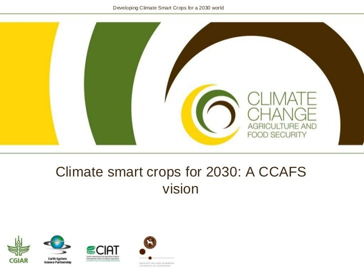Climate smart crops for 2030: The CCAFS vision