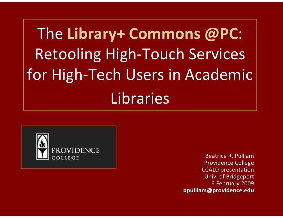 Library Commons Presentation to CCALD
