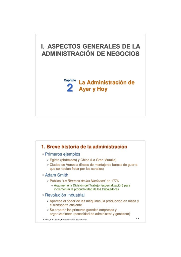 La administración de ayer y hoy