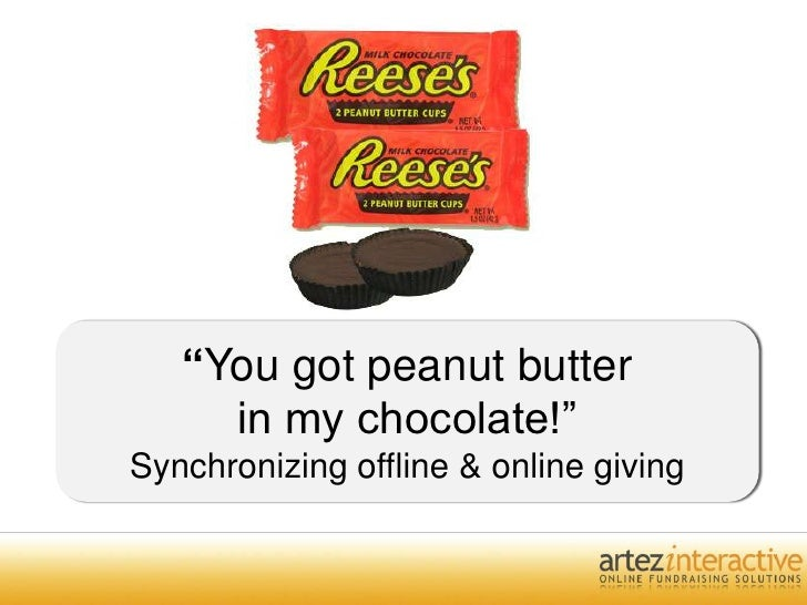 """You got peanut butter in my chocolate!""Synchronizing offline & online giving<br />"