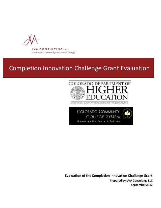 College America Grant Reports- Final Evaluation