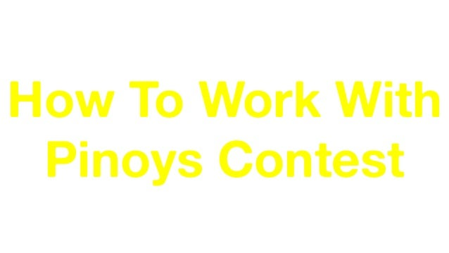 Jomar Hilario Presents… How To Work With Pinoys Contest Join the 2-Day Hands On Content Marketing Workshop. Learn more at ...