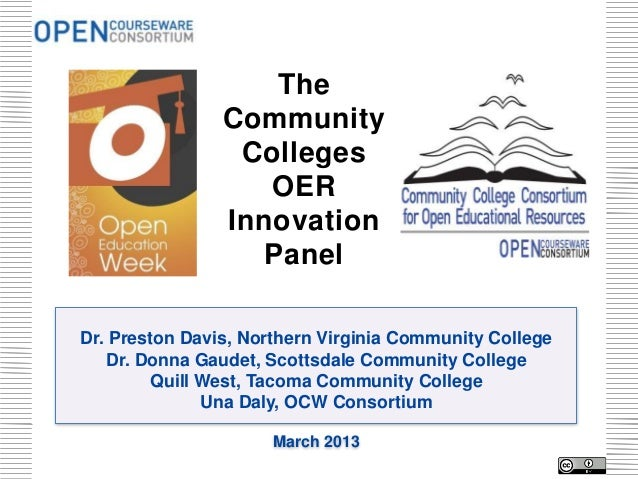 Open Education  Week: Community College OER Innovation Panel