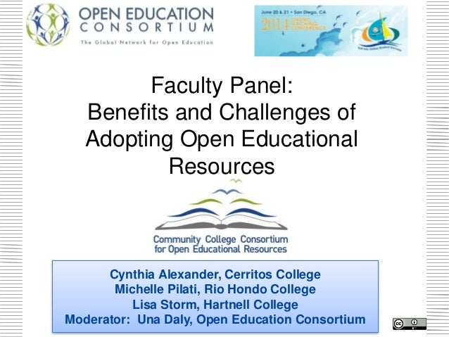 CCCOER OTC Faculty Panel: The Benefits and Challenges of Adopting Open Educational Resources (OER)