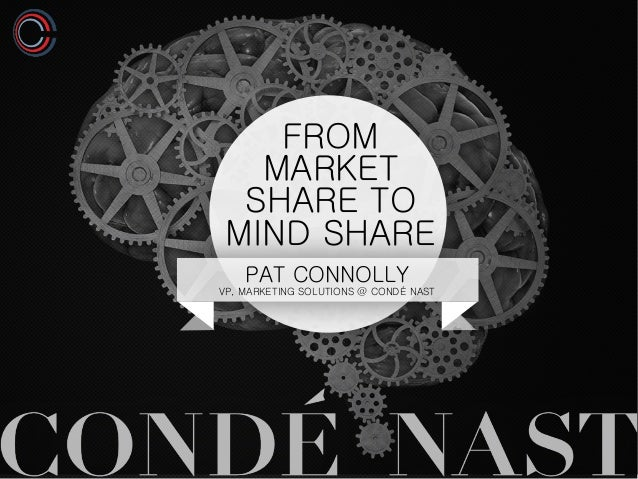 FROM MARKET SHARE TO MIND SHARE PAT CONNOLLY VP, MARKETING SOLUTIONS @ CONDÉ NAST