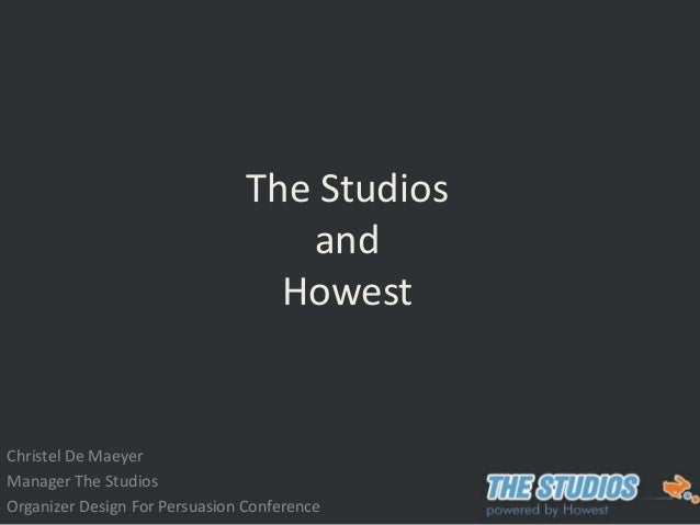 Christel De Maeyer Manager The Studios Organizer Design For Persuasion Conference The Studios and Howest