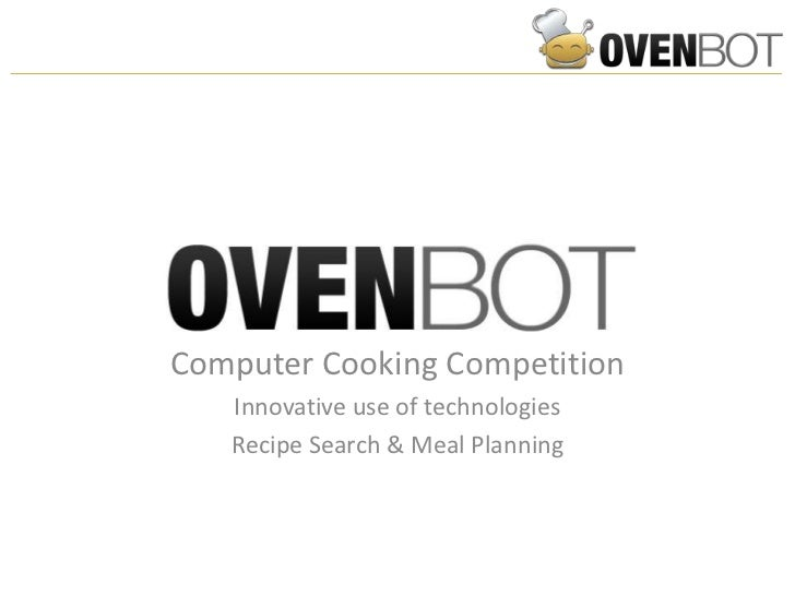 Ovenbot  - recipe search and meal planning example