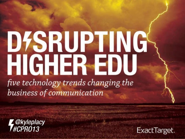Disrupting Higher Education with Digital Technology