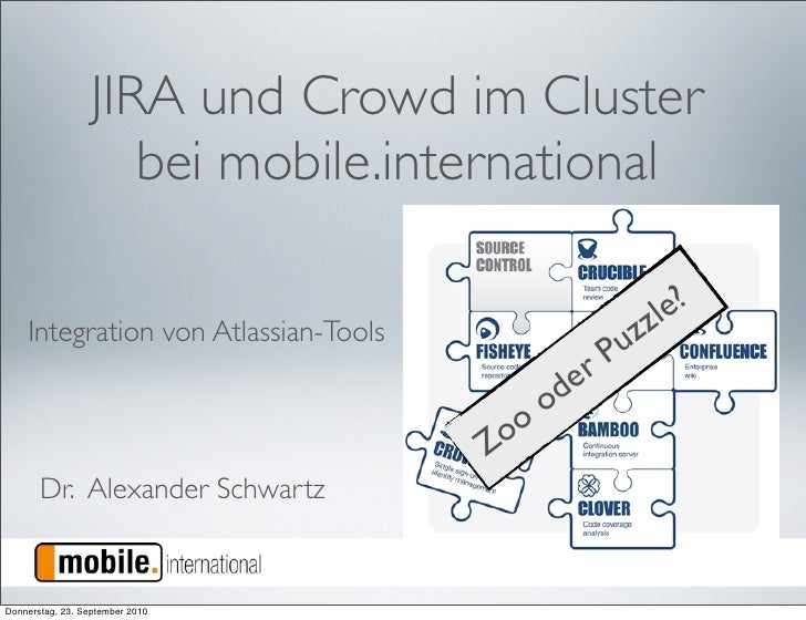 JIRA und Crowd im Cluster                      bei mobile.international                                                   ...