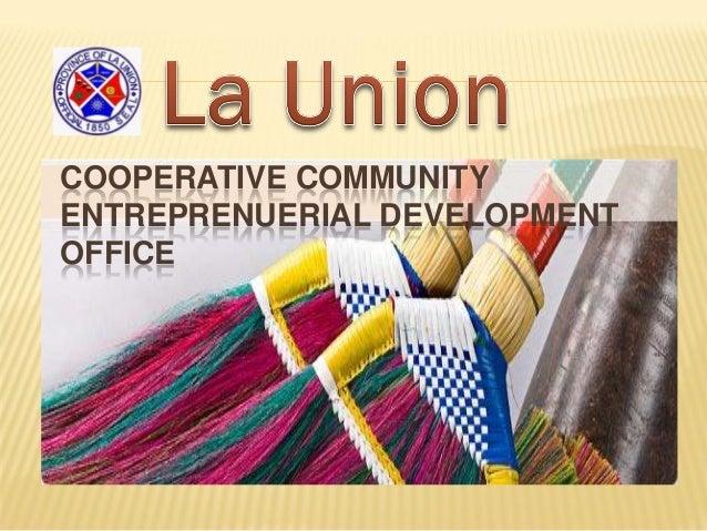 Cooperative Community Entrepreneurial Development Division - OPAg, Province of La Union