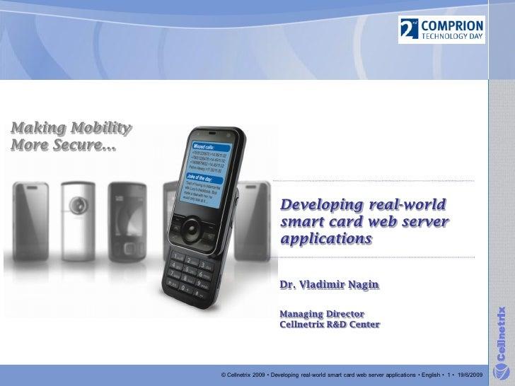Developing Smart Card Web Server Applications