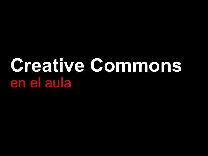 Creative Commons en el aula
