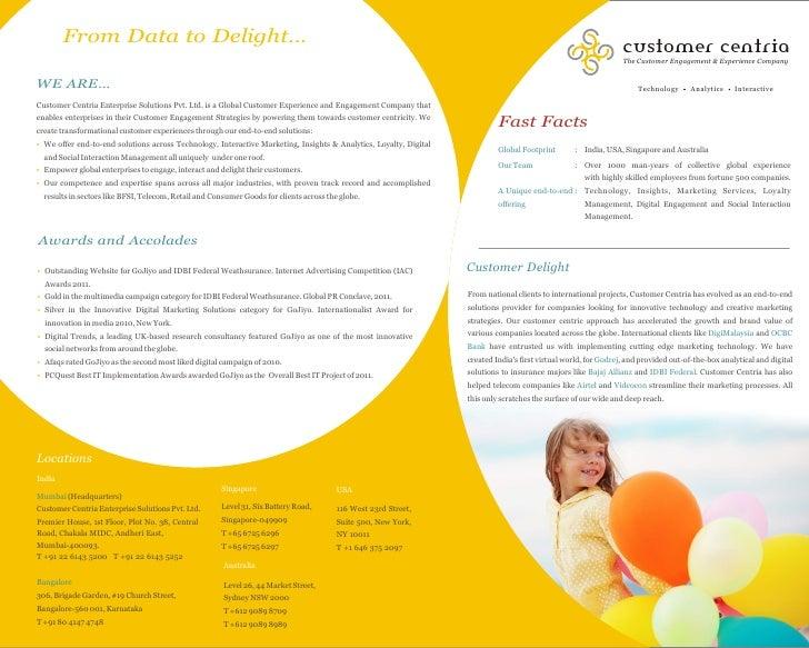 Customer Centria Factsheet | Customer Centria Services