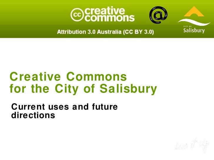 Creative Commons for City of Salisbury