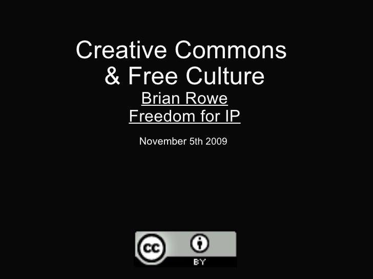 Cc Free Culture Sccc 2009