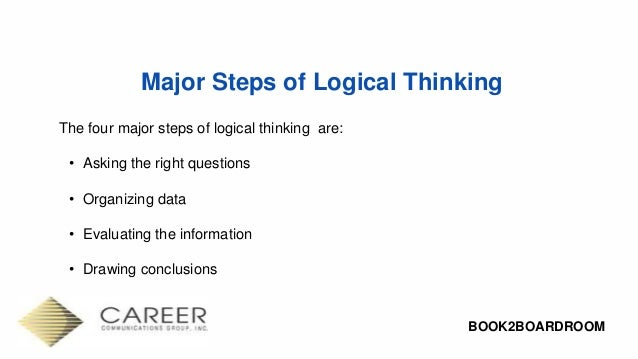 How to solve logic problems step by step