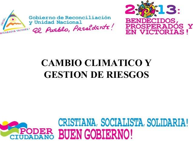 CAMBIO CLIMATICO YGESTION DE RIESGOS