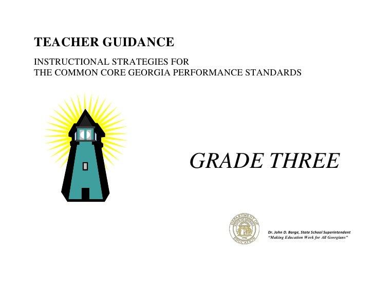 Gr. 3 Teacher Guidance