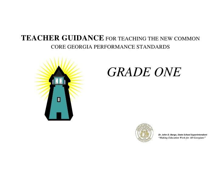 Teacher Guidance Document