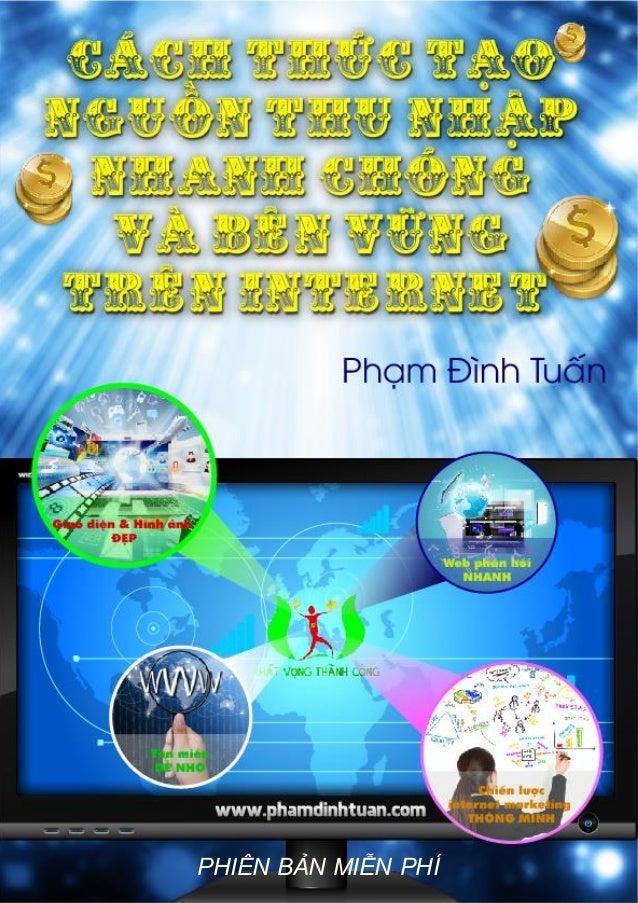 Cách thức tạo nguồn thu nhập nhanh chóng và bền vững trên internet