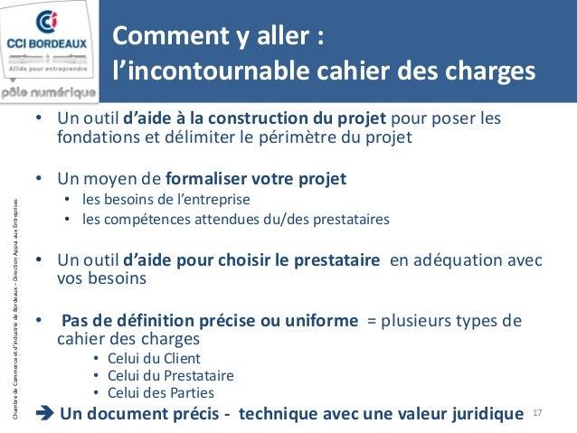 Cci bordeaux atelier projet site web cahier des charges 18 09 2014 - Cahier des charges definition ...