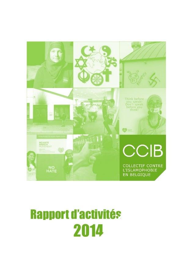 Rapport d'activités 2014