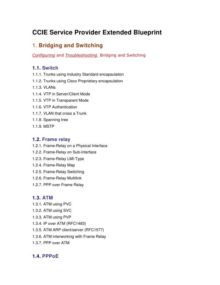 Ccie service provider preparation guide