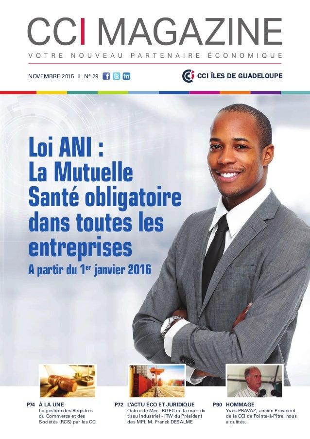 CCIGuadeloupe cci magazine n novembre  iles de guadeloupe