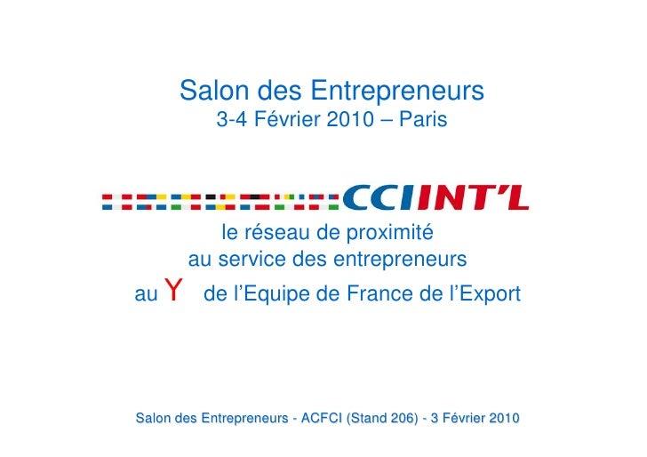 Salon Des Entrepreneurs 3 FéVrier 2010 Conference Export Powerpoint Rf