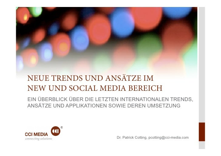 Cci media   trends im social media bereich - cotting in gstaad 2012p.pptx