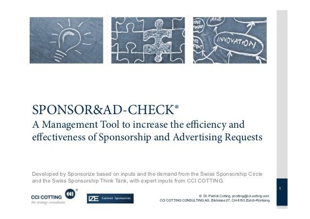 CCI Media Sponsorship Ad Check Management Tool